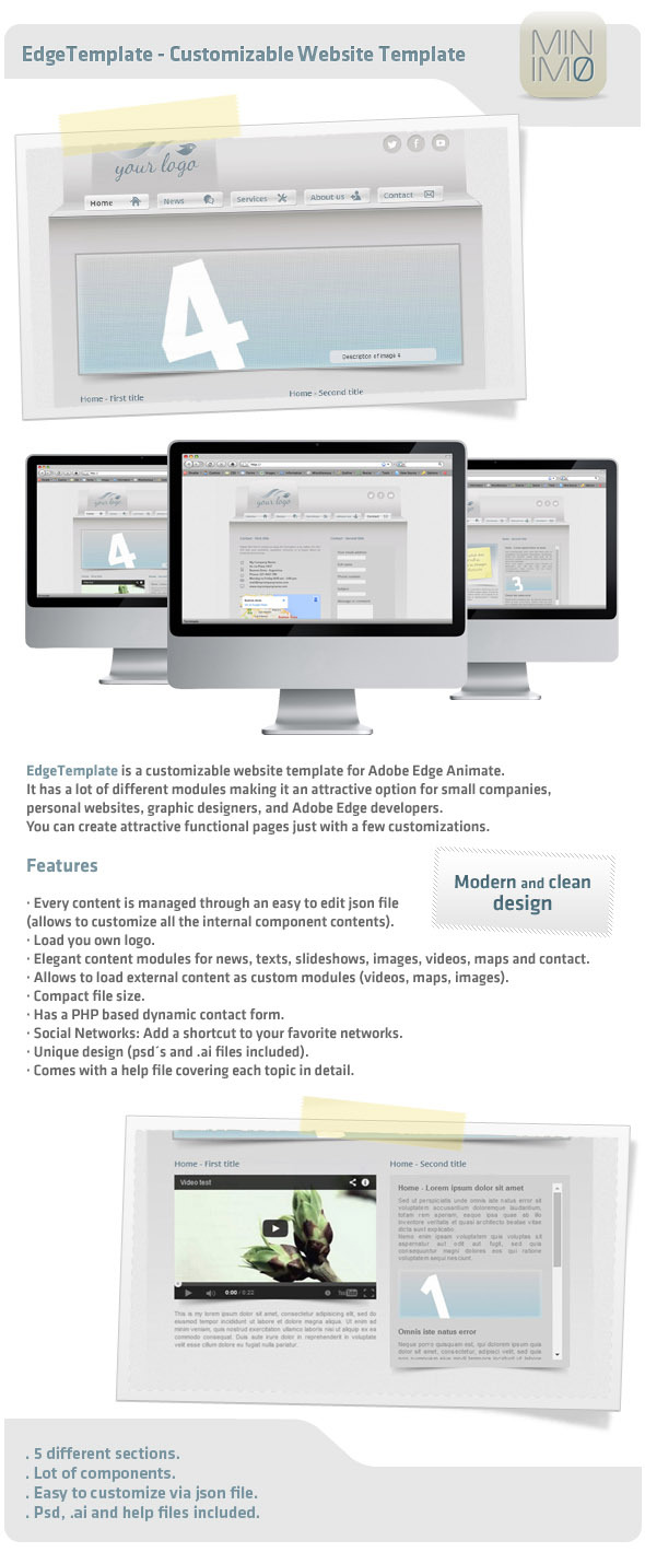CodeCanyon EdgeTemplate Customizable Website Template 8352369