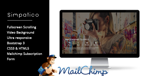 ThemeForest Simpatico Creative Countdown Coming Soon Page 8364616