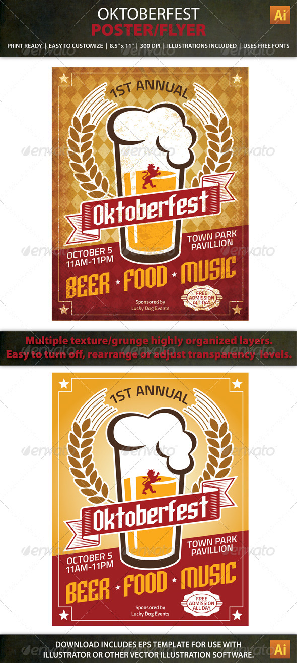 GraphicRiver Oktoberfest Poster Flyer Template 8417017