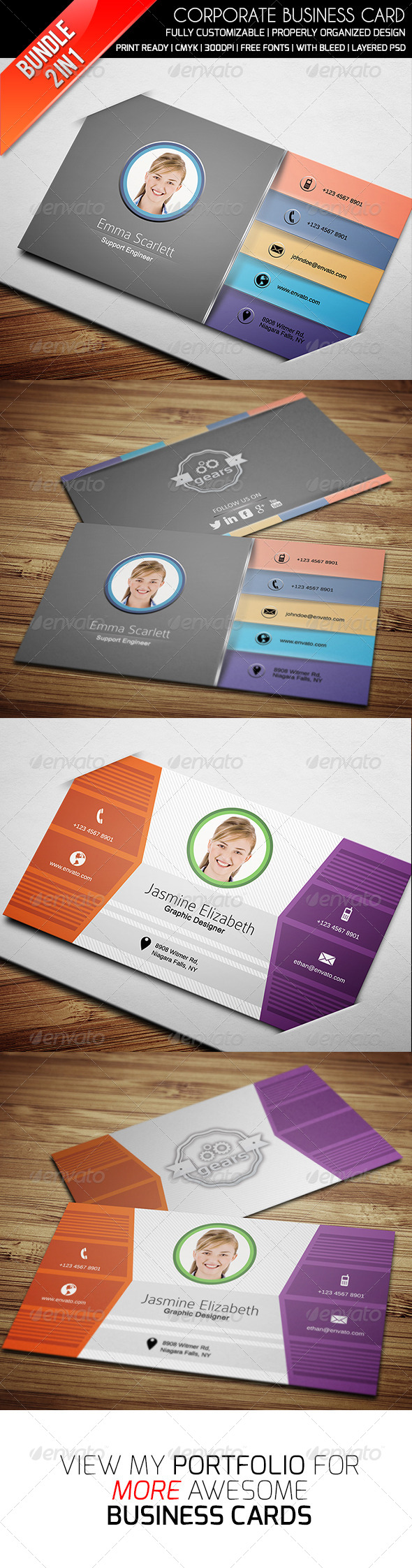 GraphicRiver Ethanfx Business Card Bundle Vol 1 8417012