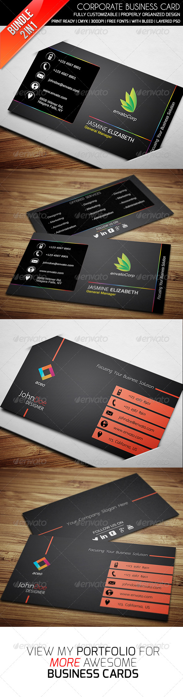 GraphicRiver Ethanfx Business Card Bundle Vol 2 8417384