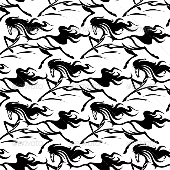 GraphicRiver Horse Pattern 8426908
