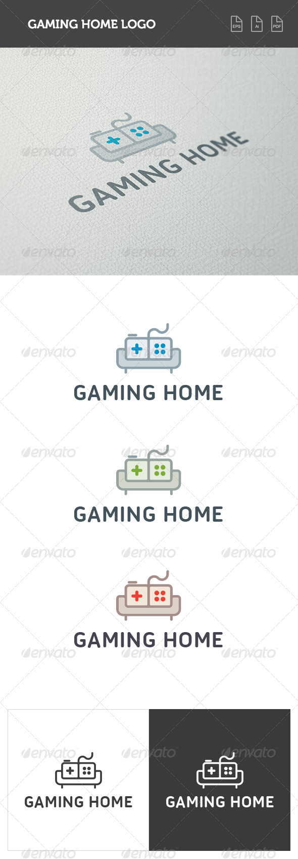 GraphicRiver Gaming Home Logo 8426919