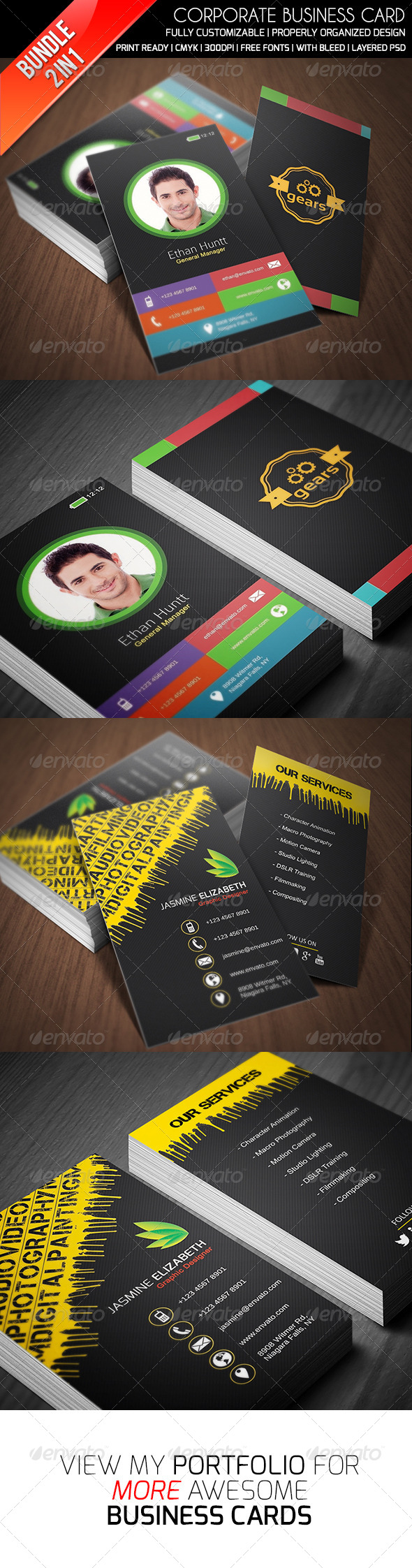 GraphicRiver Ethanfx Business Card Bundle Vol 3 8426946