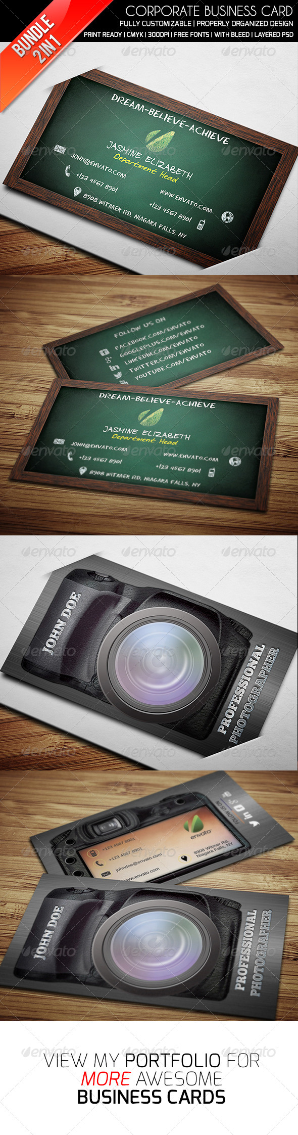 GraphicRiver Ethanfx Business Card Bundle Vol 4 8426988