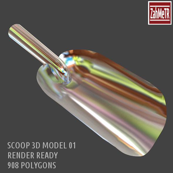 Scoop Metal - 3DOcean Item for Sale