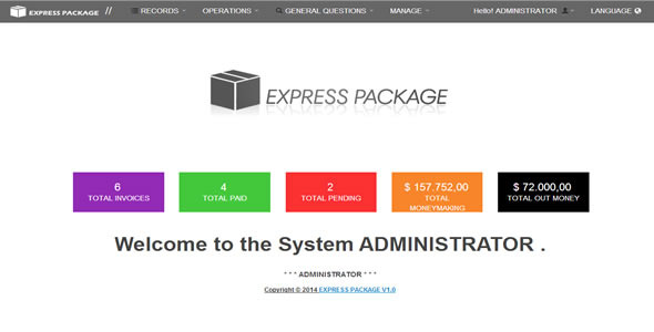 CodeCanyon Shipping Express Packages Invoicing System Of Sh 8278826
