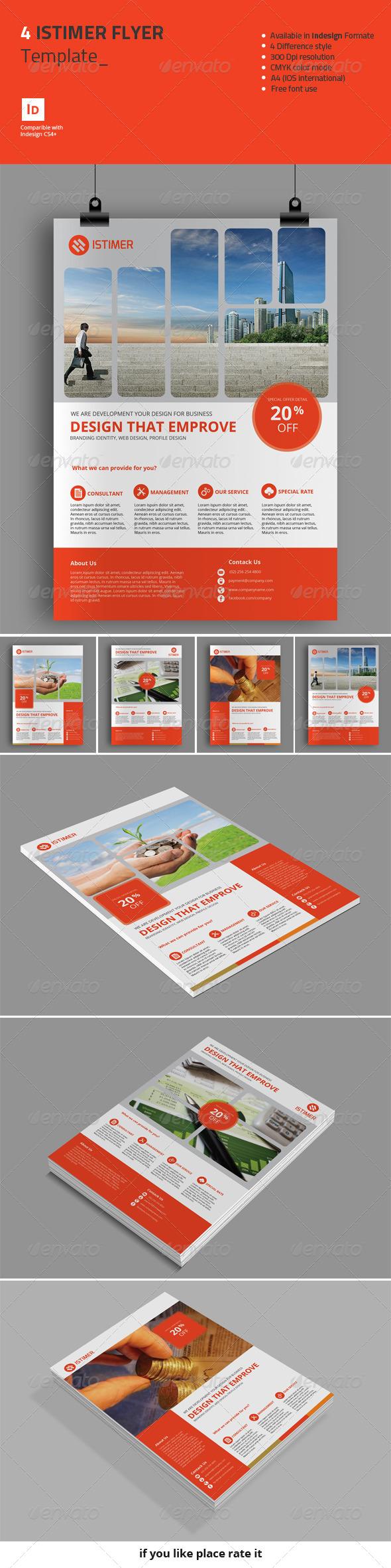 GraphicRiver 4 Istimer Flyer Template 8427210