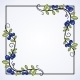 Elegant Frame with Blueberries. - GraphicRiver Item for Sale