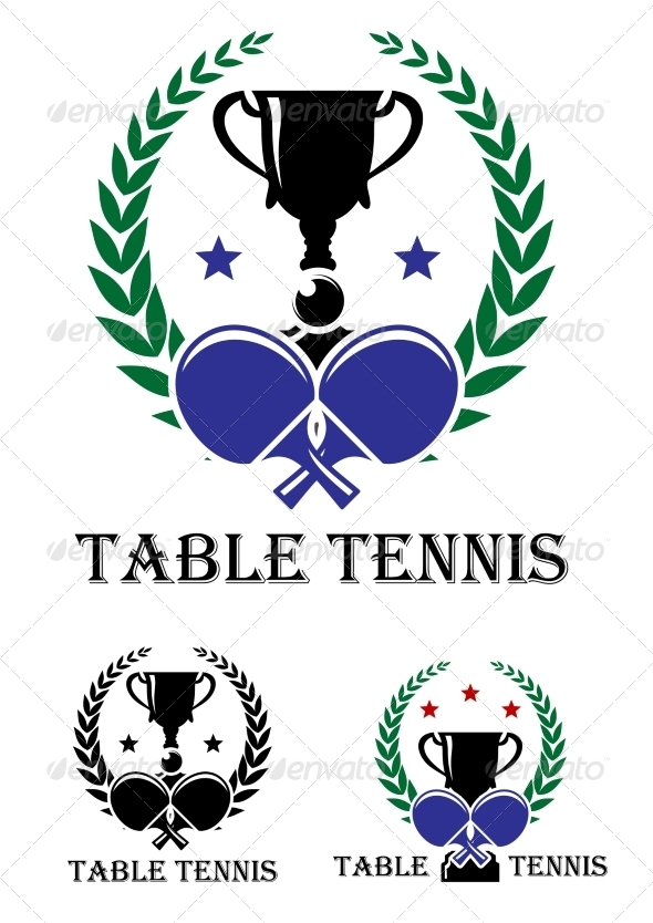 GraphicRiver Table Tennis Emblem 8427285