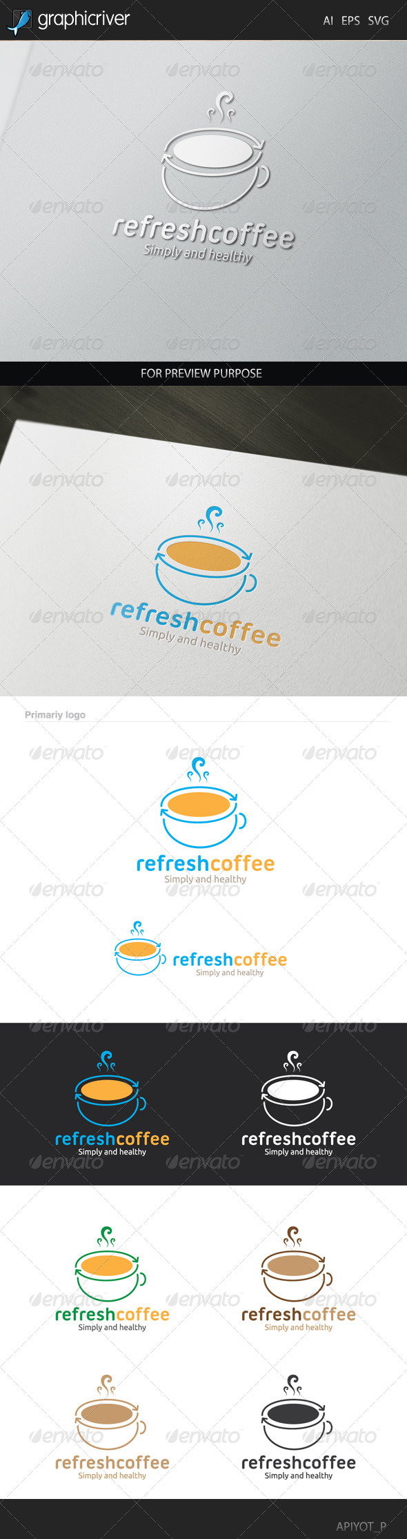GraphicRiver Refresh Coffee logo 8427392
