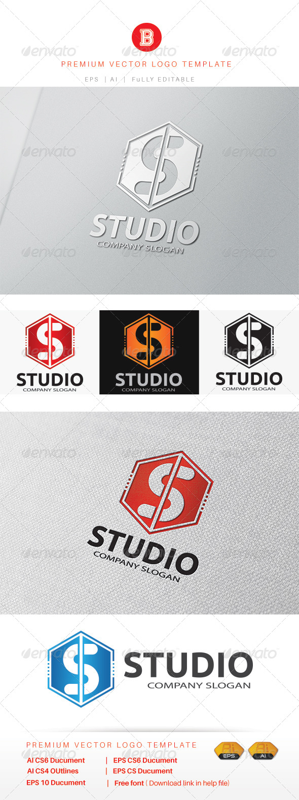 GraphicRiver Studio S Logo 8427473