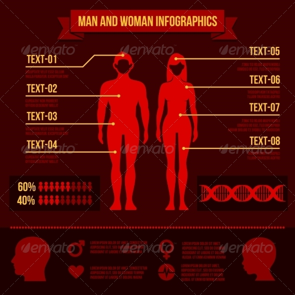 GraphicRiver Set of Man and Woman Infographic Elements 8427476