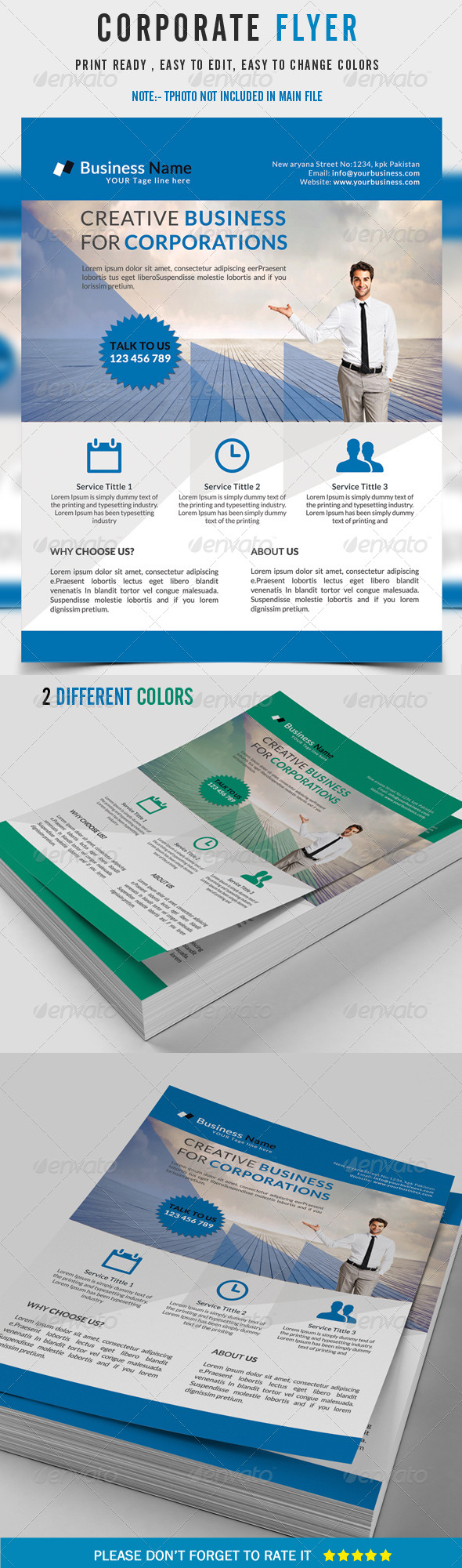 GraphicRiver Corporate Flyer 8427564