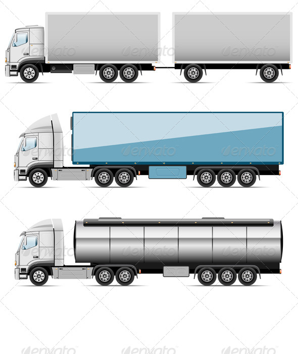 GraphicRiver Icons Trucks 8427570