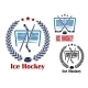 Ice Hockey Net Emblems - GraphicRiver Item for Sale