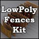 Low Poly 3D Models - Fences Kit for Cinema 4D