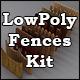Low Poly 3D Models - Fences Kit for Cinema 4D