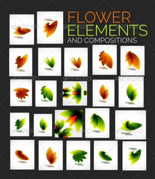 GraphicRiver Flower Elements 8427840