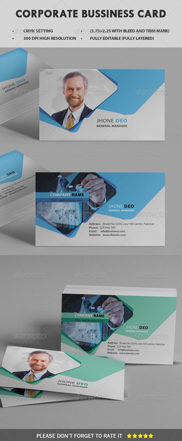 GraphicRiver Corporate Business Card 8427858