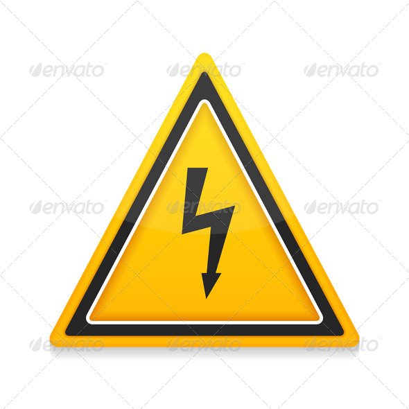 GraphicRiver High Voltage Icon 8427935