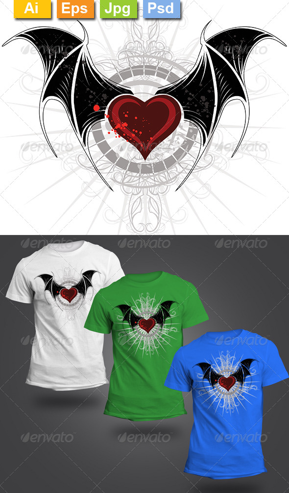 GraphicRiver Vampire Heart 8428071