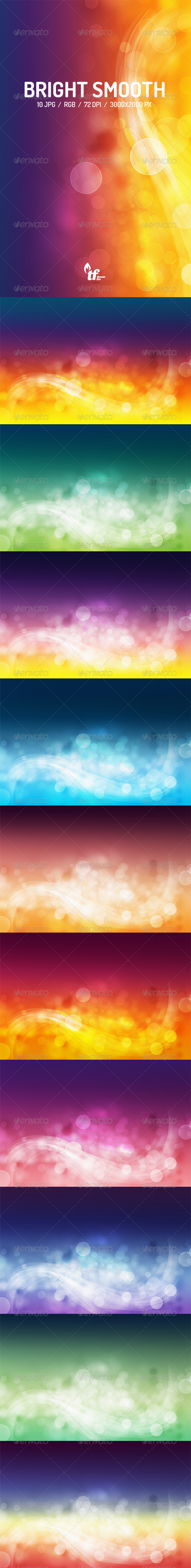 GraphicRiver Abstract Bright Smooth Backgrounds 8428096