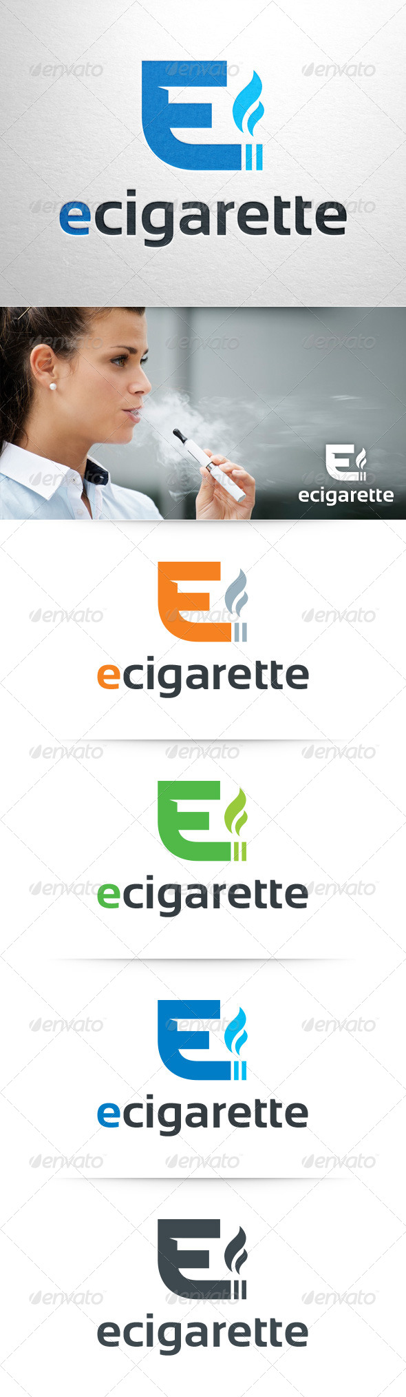 GraphicRiver E Cigarette Logo Template 8428169
