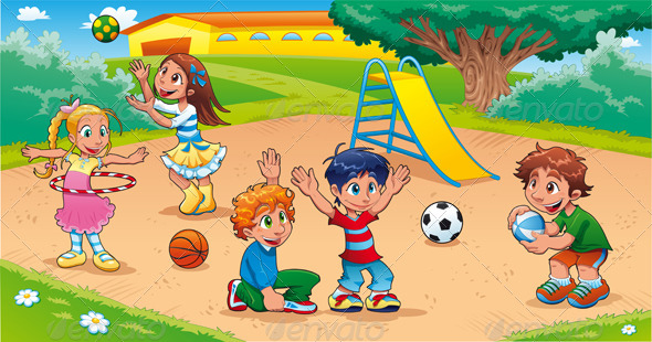 GraphicRiver Kids in the Playground 8428206