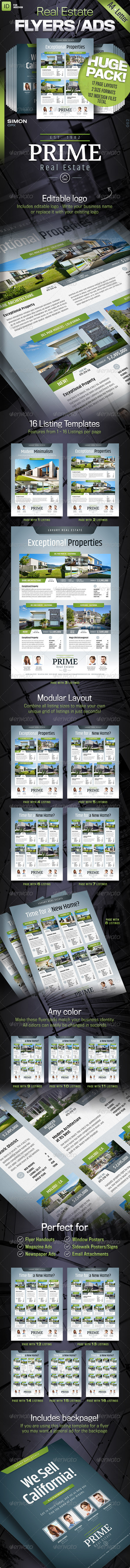 GraphicRiver Real Estate Flyers Ads Prime 8428356