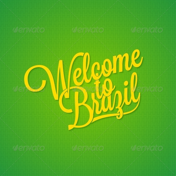 GraphicRiver Brazil Vintage Lettering Background 8428384