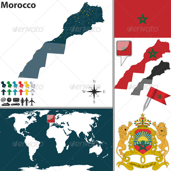 GraphicRiver Map of Morocco 8428387