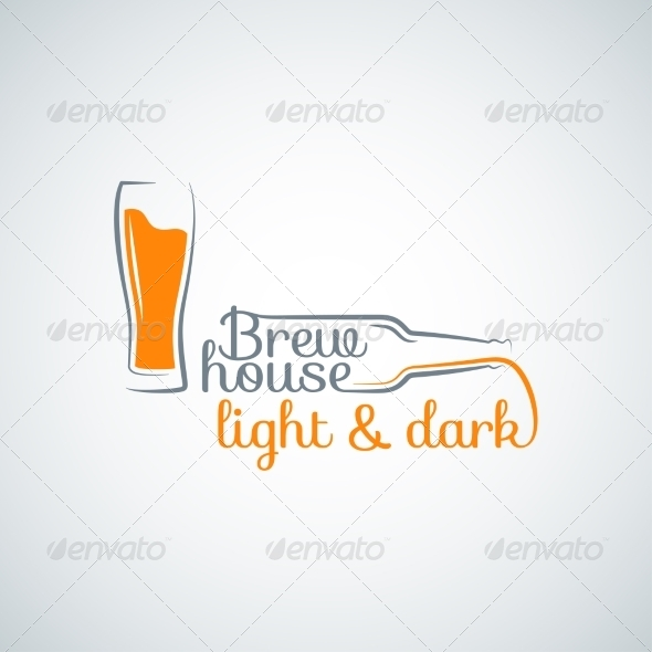 GraphicRiver Beer Glass Bottle Background 8428392