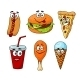 Cartoon set of Fast Food Icons - GraphicRiver Item for Sale