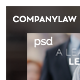 Company Law PSD Template - ThemeForest Item for Sale