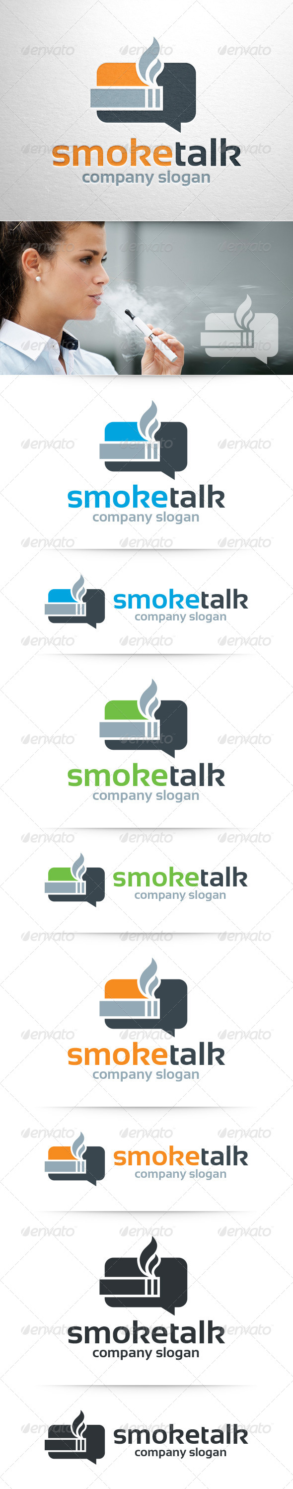 GraphicRiver Smoke Talk Logo Template 8428533