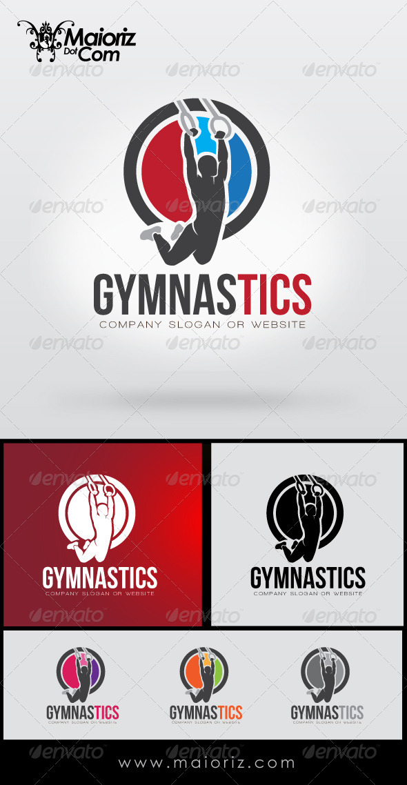 GraphicRiver Gymnastic Logo Template 8428686
