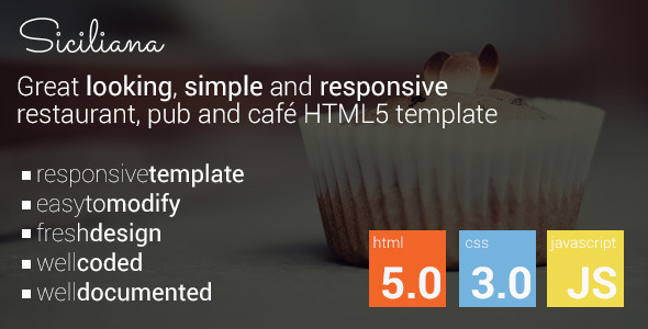 ThemeForest Siciliana restaurant & coffee html5 template 8405468