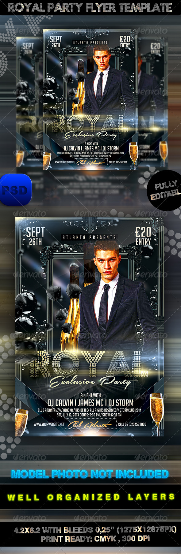 GraphicRiver Royal Party Flyer Template 8428773