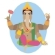 Illustration of Statue of Lord Ganesha   - GraphicRiver Item for Sale