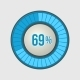 Ring Loading Progress Bar on Light Background - GraphicRiver Item for Sale