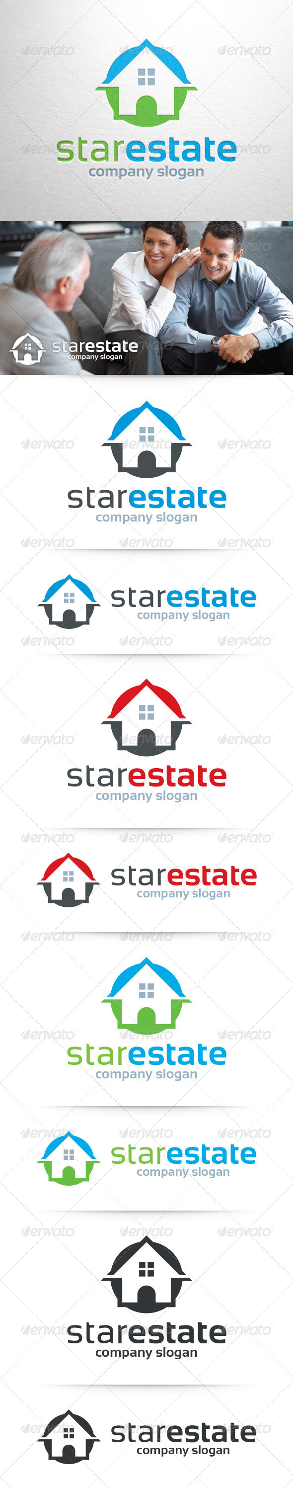 GraphicRiver Star Estate Logo Template 8428942