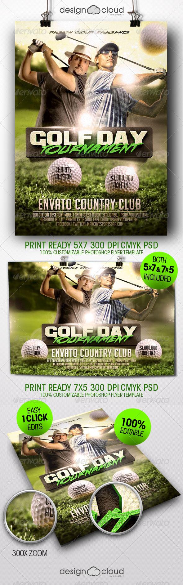 GraphicRiver Golf Tournament Flyer Template 8428949