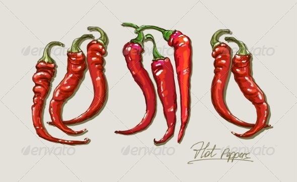 GraphicRiver Red Peppers 8429084
