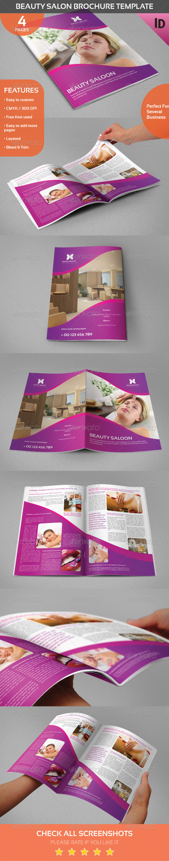 GraphicRiver Beauty Salon Brochure Template 8429111