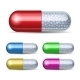 Set of Medical Capsules with Granules - GraphicRiver Item for Sale