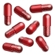 Medical Red Capsule with Granules - GraphicRiver Item for Sale