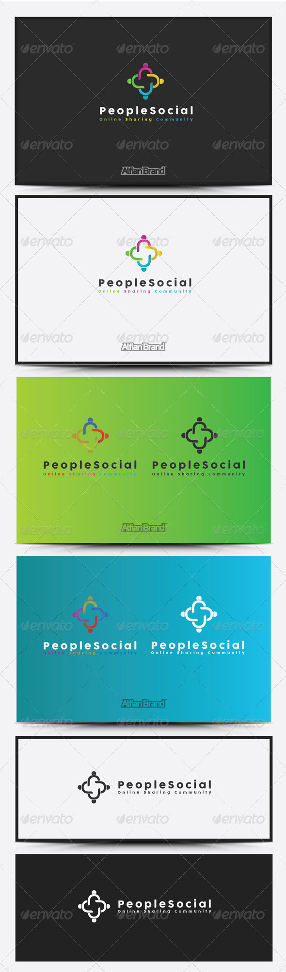 GraphicRiver People Social Logo 8418948