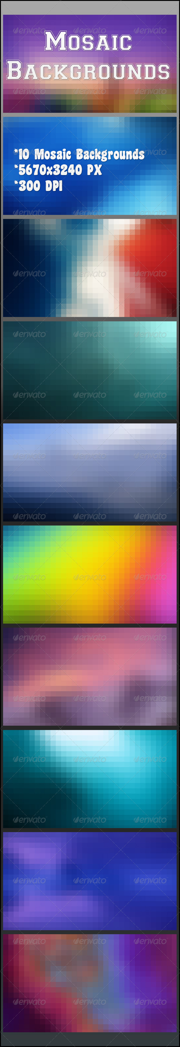 GraphicRiver Mosaic Backgrounds 8429160