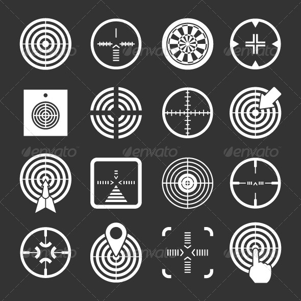 GraphicRiver Set Icons of Target and Sights 8429193